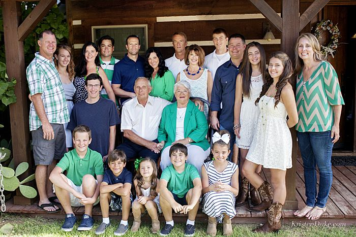 Family Reunion Portrait - Very nice composition of color and good solids/patterns mix...just enough to add some interest - JL