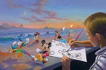 Mickey Mouse - Dream Maker - Jim Warren - World-Wide-Art.com - $750.00