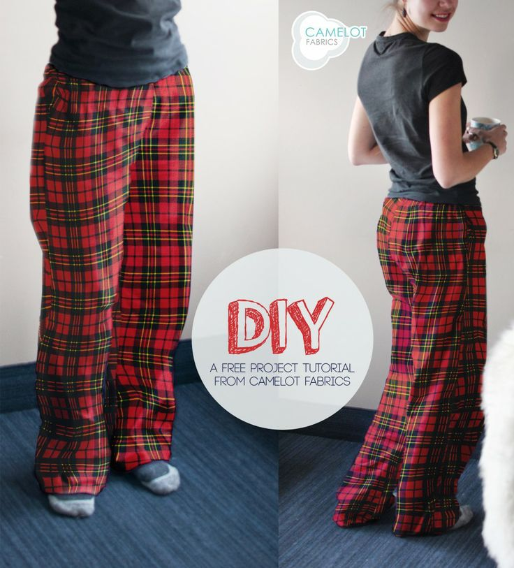 DIY: Flannel pants // Camelot Fabrics // Last minute Christmas gift!