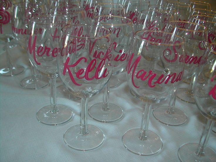 elegant bride wine theme bridal shower | Bridal Shower favors | Lettering Art Studio
