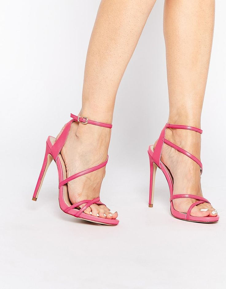 Pink Strappy High Heel Sandals | Tsaa Heel