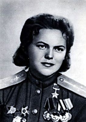 Soviet Air Force officer, Hero of the Soviet Union Rufina Gasheva (flew 848 night missions as navigator in a U-2/Po-2)