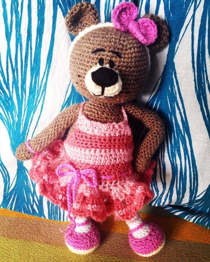 Różowa Misia Karolinka ☺️💖🐻🌸🌷🍥🎀💕🚺😍 #crochetlove #crochet #crochetlife #instacrochet #🐻 #ilovecrochet #crochetersofinstagram #szydełko #szydelkowymis #myhobby #myhandmade #handmade #crochetteddybear #instahandmade