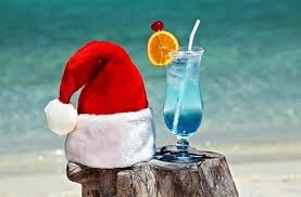 #Christmas Cocktails on the beach