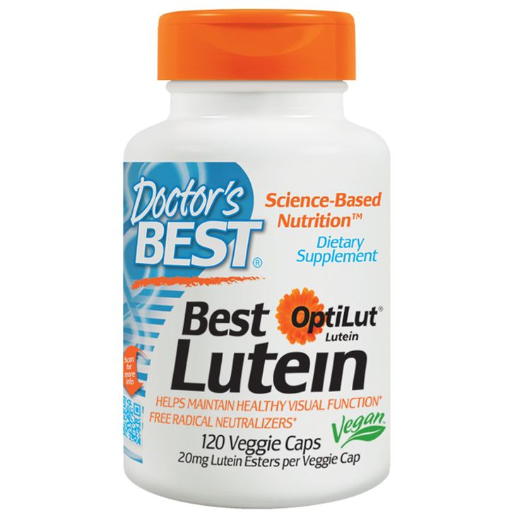 Doctor's Best, Best Lutein, 120 Veggie Caps Science-based nutritional supplement made with the highest quality standards
