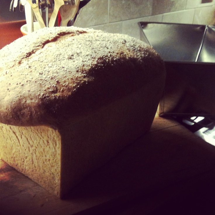 Great big lovely loaf of bread. 4lb tin. Awesome.