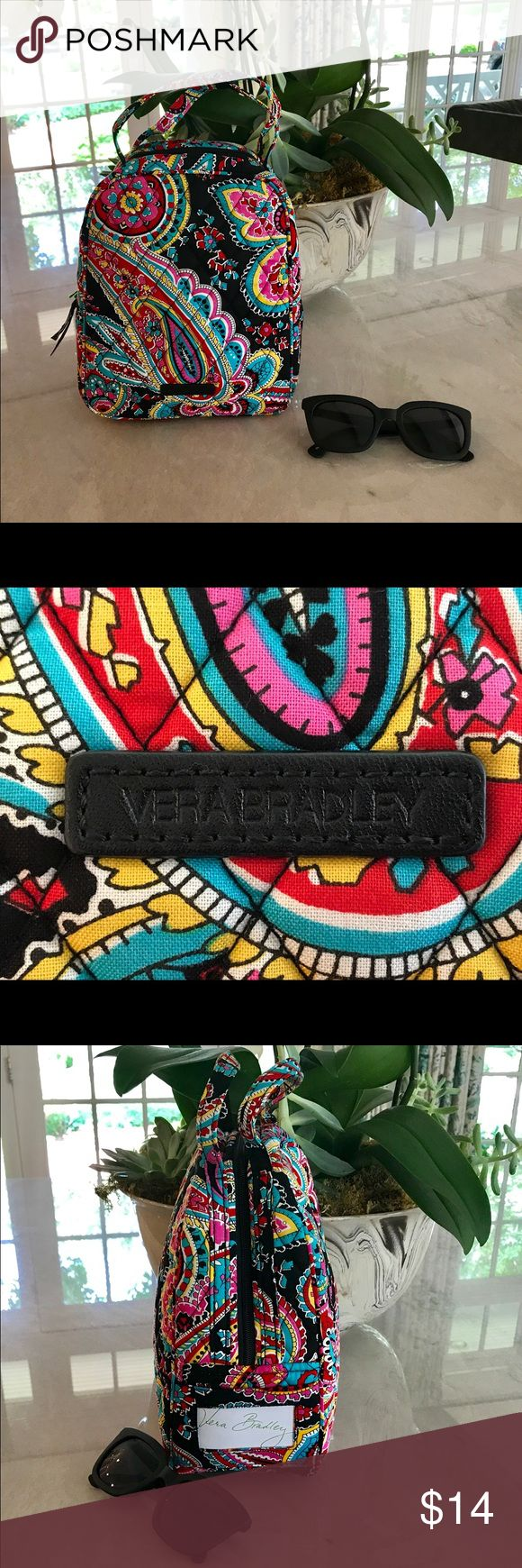 "Vera Bradley Parisian Paisley Lunch Bunch Brand new with tags  Perfect way to bring your lunch in style. Made of 100% Cotton with Wipeable interior. Will fit most prepackaged frozen meals and thermos. Approximate Measurements are7.5"" x 9"" x 4 1/4"" Vera Bradley Bags"