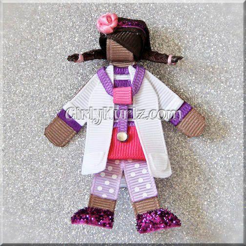 Doc McStuffins Ribbon Sculpture Hair Clip Princess Hair Clip Princess Hair Bow on Etsy, $10.20