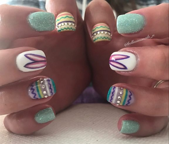220 best easter nail art images on pinterest easter nail art easter nails by bellissimanails from nail art gallery prinsesfo Choice Image