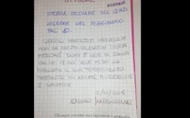 """Madre milanese si rivolge alle maestre: """"Basta compiti dopo la scuola""""  #madre #compiti #scuola #giustificazione"""