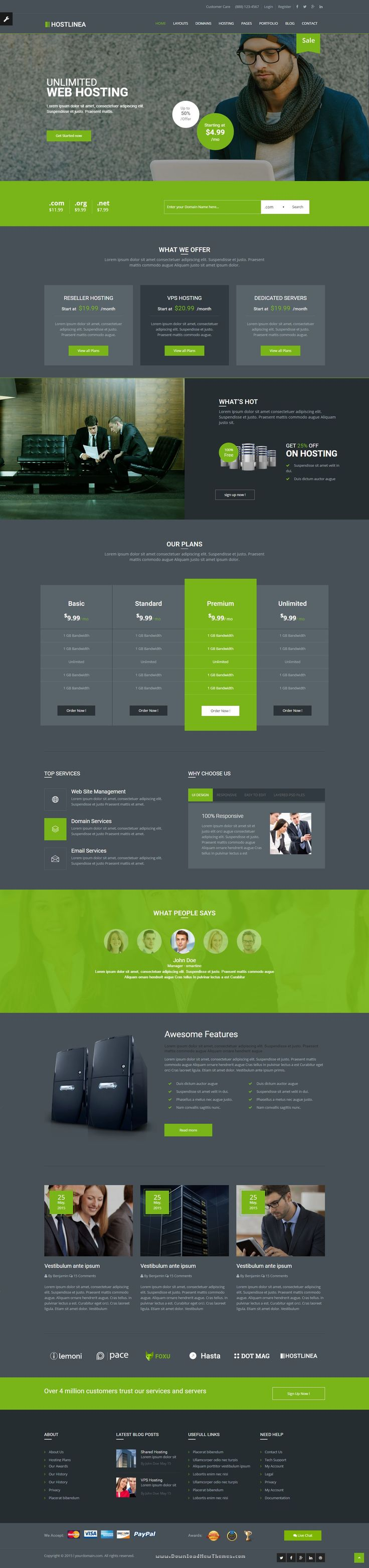 Hostlinea Wonderful Web Hosting, Responsive #HTML5 Template > It comes with… http://templates.jrstudioweb.com/
