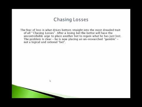 Video 3 - Racing Profits - The Mindset Of The Betting Pro - In this video I look at how a betting pro approaches his betting and how you can also adopt a similar mindset in your own betting