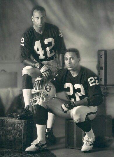 Ronnie Lott Rodger Craig Oakland Raiders Los Angeles Raiders Silver and Black