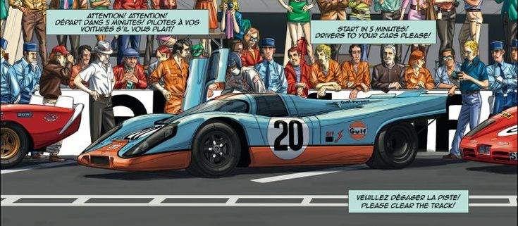 Steve McQueen In Le Mans is a new graphic novel by Swiss artist Sandro Garbo, he wanted to take one of the most famous McQueen movies and give it a comprehensive re-telling via the graphic novel medium – recreating the most famous scenes and cars in stunning detail.