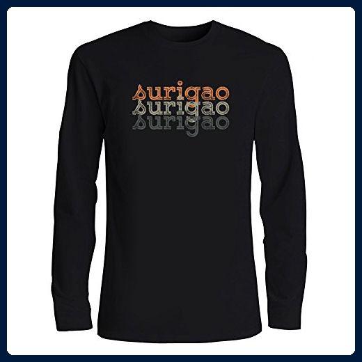 Idakoos - Surigao repeat retro - Cities - Long Sleeve T-Shirt - Retro shirts (*Amazon Partner-Link)