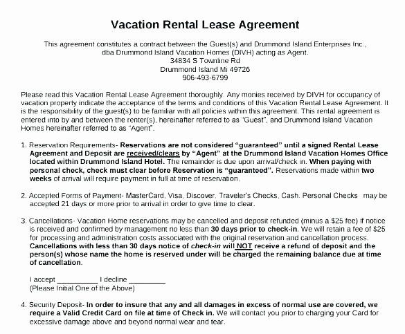 Vacation Rental Agreements Template Beautiful Weekly Rental Agreement Template Inntegra Rental Agreement Templates Bounce House Rentals Vacation Rental