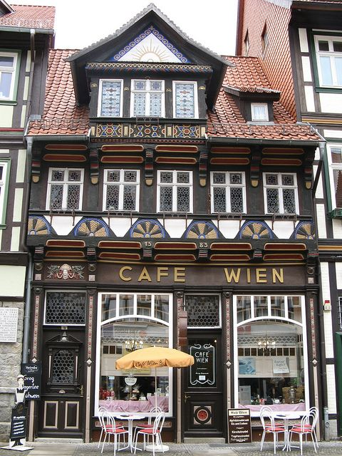 Cafe Wien, Wernigerode, Saxony-Anhalt, Germany by i.prinke, via Flickr