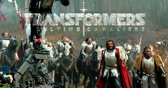 TRANSFORMERS: L'ULTIMO CAVALIERE prime immagini di Re Artù nella featurette IMAX dedicata a dieci anni di Transformers