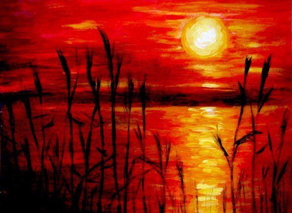 Sunset (Acrylic Painting)
