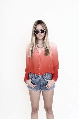 dip dye blouse!!