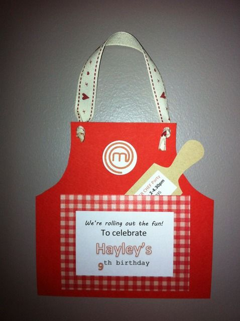 A Masterchef Party Invite