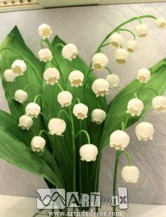 Гигантские цветы огромные ландыши оформление бутафория