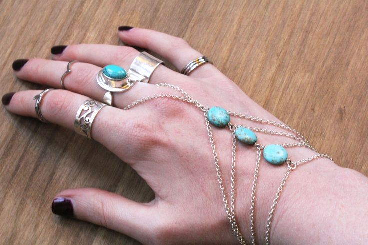 Naked Faun Jewellery | Hand Chains + Turquoise + Silver | www.nakedfaun.com