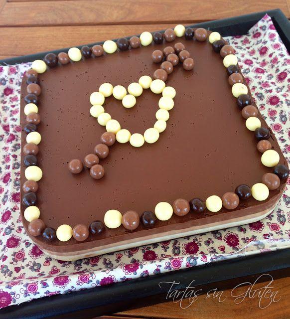 Tartas sin Gluten .....365 dias sin gluten: Tarta a los 3 chocolate #SinGluten
