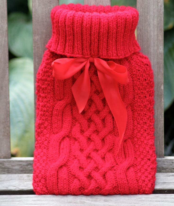 Knitting Pattern For A Hot Water Bottle Cover : 17 Best ideas about Hot Water Bottles on Pinterest Water ...