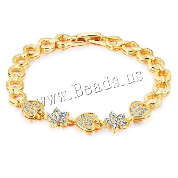 Pulsera de Aleación de Zinc, con 2.5lnch extender cadena, chapado en color dorado, cadena Rolo   para mujer   con diamantes de imitación, 9mm, 9mm, Vendido para aproximado 7 Inch Sarta,Abalorios de joyería por mayor de China