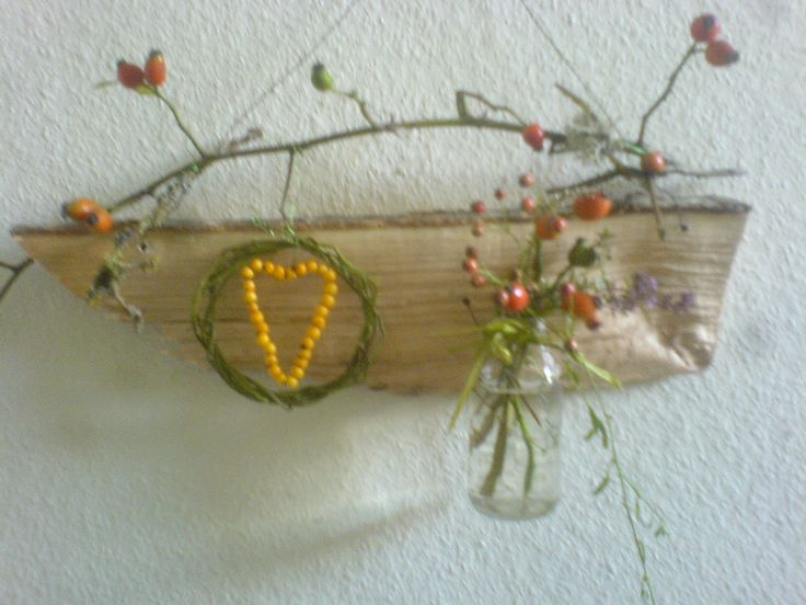 Natur Materialien Herbstkranz/ Autumnwreath