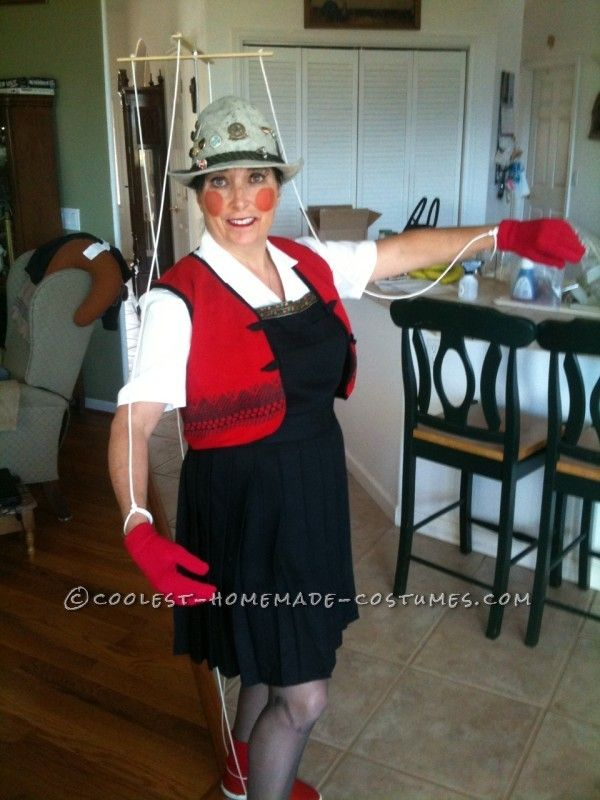 Cool DIY Marionette Pinocchio Costume Idea