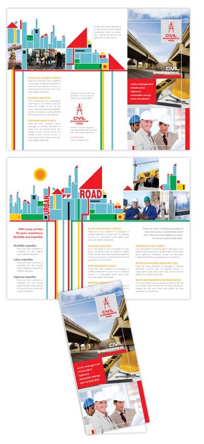 engineering brochure templates - civil engineers tri fold brochure template civil engineers