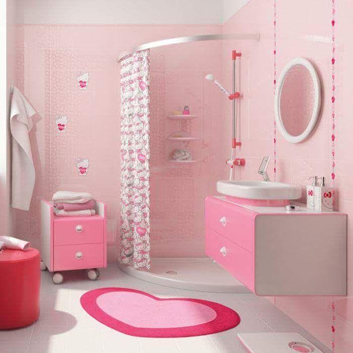 40 Playful Kids Bathroom Ideas To Transform You Little Wonder S Bath Space Girl Bathrooms Girl Bathroom Decor Retro Pink Bathroom