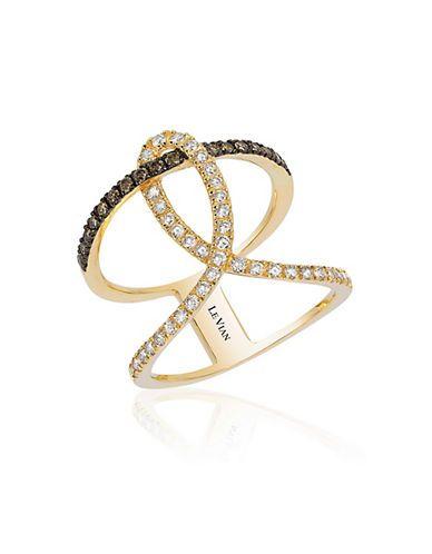 A Honey Gold swirl of Vanilla Diamonds and Chocolate Diamonds.