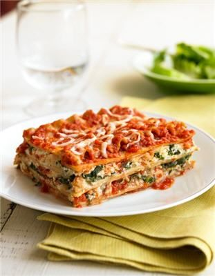 Biggest Loser Spinach Lasagna