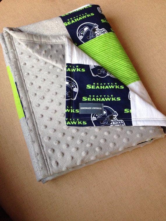 Baby Blanket Seattle Seahwaks by HandmadeLemonade on Etsy