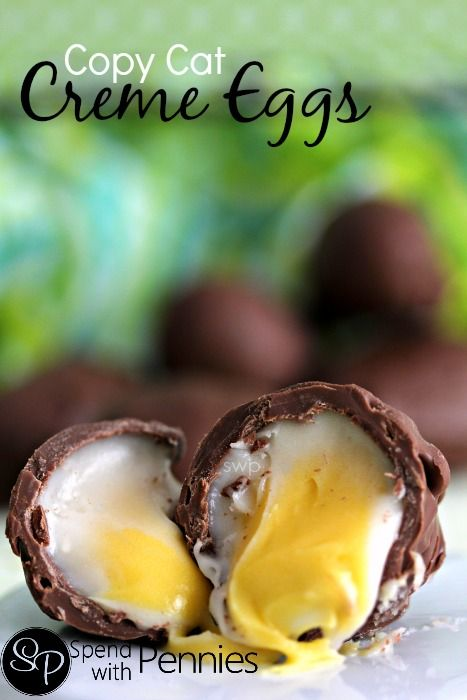 Copy Cat Creme Eggs!  These are pretty easy to make at home and super fun to put together!