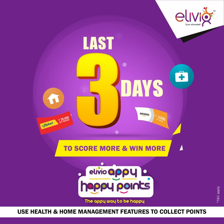 Elivio appy happy points contest is getting over in 3 days