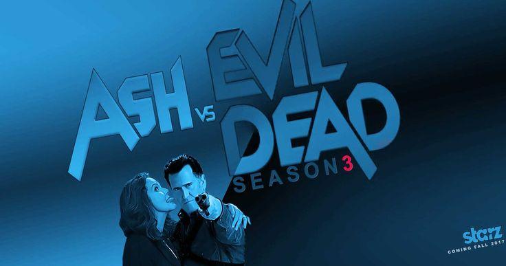 "#AshvsEvilDead #FANART poster: ""Season 3 Blue"""