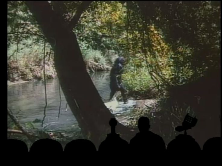 'Mystery Science Theater 3000' watching a Bigfoot movie