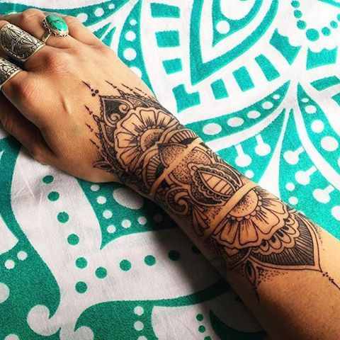 And Then You Mind Takes No Other Second To Get Hypnotized By That Regular Circular Core Of The Artwork Called Mandala Style Tattoo Designs