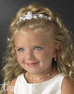 flower girl hairstyles with tiara - Google Search (madysen)