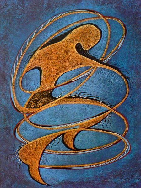 Hoop Dancer - Contemporary Canadian Native, Inuit & Aboriginal Art - Bearclaw Gallery
