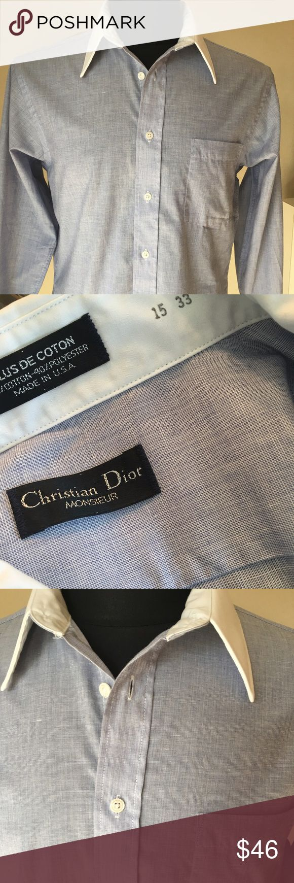 🌟CHRISTIAN DIOR MENS SHIRT 💯AUTHENTIC CHRISTIAN DIOR MENS SHIRT 100% AUTHENTIC. HREAY STYLISH SHIRT . TRUE HIGH END FASHION . IT IS A FRENCH CUFF SHIRT WITH WHITE CUFFS IT IS A SIZE 15   33 Christian Dior Shirts Dress Shirts
