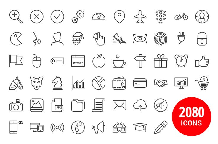 2,080 iOS 8, iOS 7 & Android Icons - Icons - 3