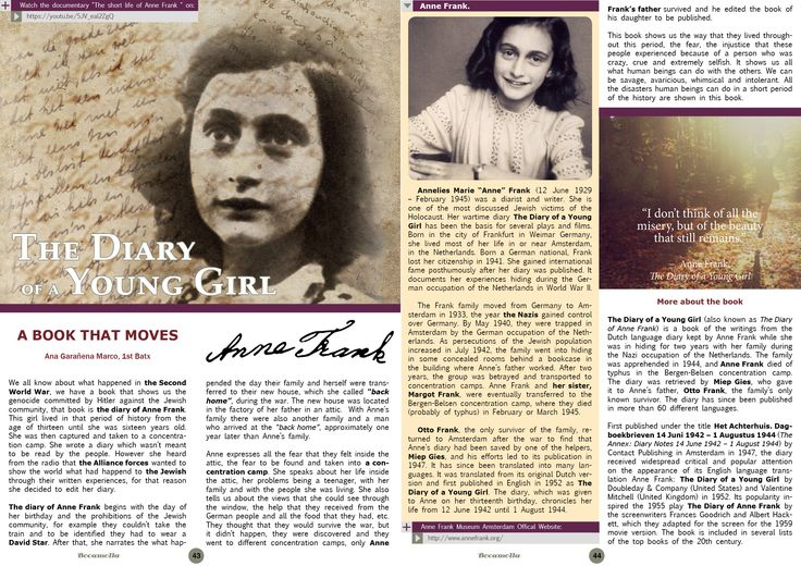 The Diary of Anne Frank. Page 1/2. Bocamolla Issue #5.