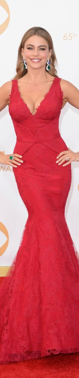 Sofia Vergara 2013 Emmy Red Carpet