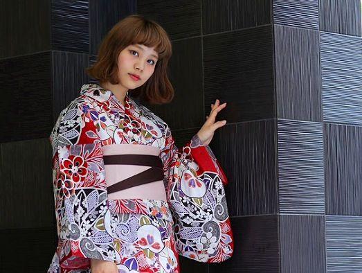 Yukata Red Japonica by utatane