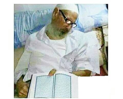 !!! What a ending, he died while reading the book of Allah May Allah give him and the Muslims the best of ranks in Jannah Ameen #islam #muslim #islamic #islamicquotes #islamicreminder #muslimah #muslims #muslimquotes #allah #muhammad #muhammadsaw #quran #instaislam #pray #ummah #muhammed #instagood #prayer